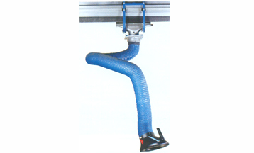 Fume extractor on rail